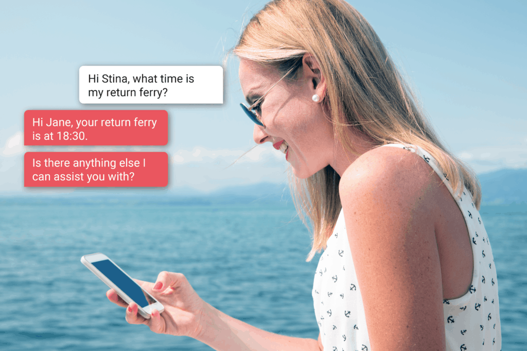 Stina for Stena Line Case Study AI virtual assistant travel industry