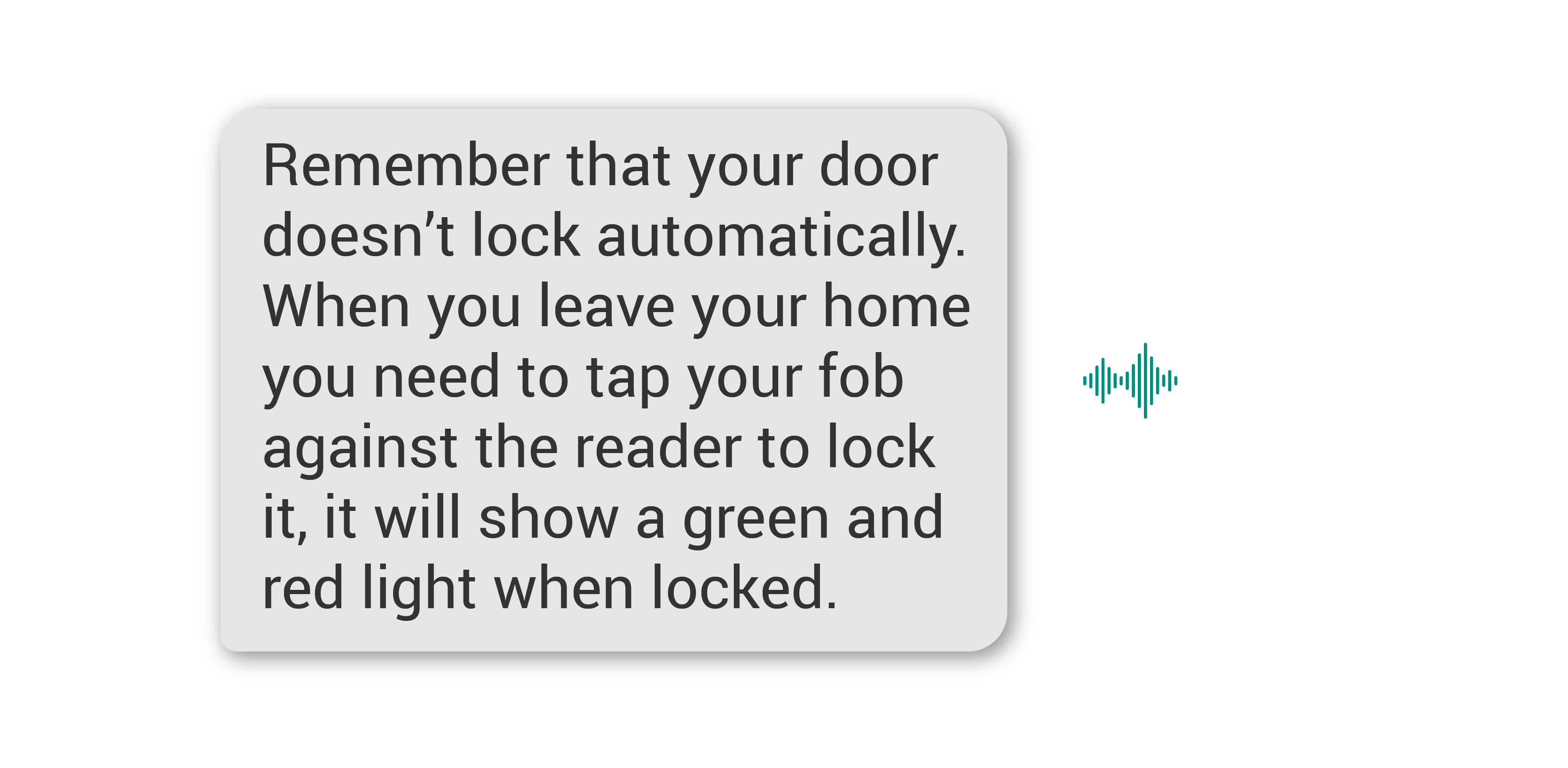 Rental managers: security information via an AI assistant