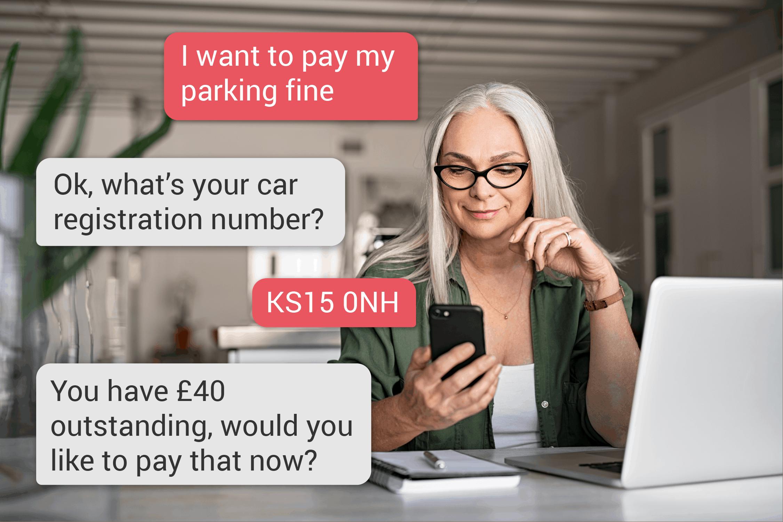 Community AI: Pay parking tickets easily via an AI assistant
