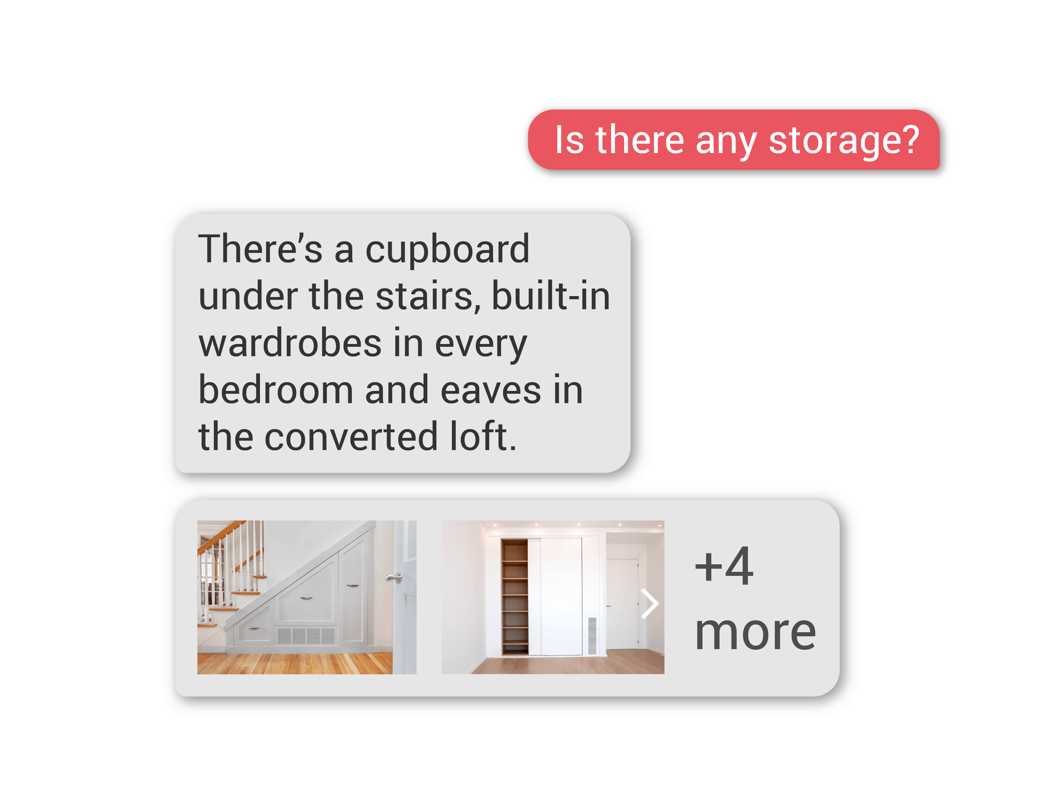 Property sales: storage queries answered by an AI assistant